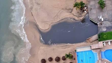 Aguas negras en Acapulco