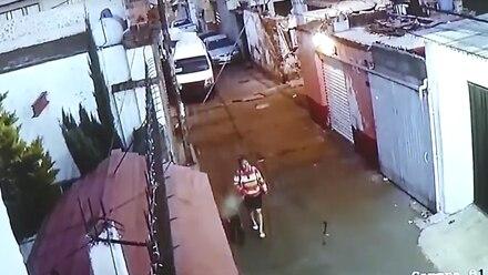 Mujer que se lleva a Fátima.