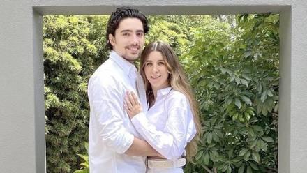 Alex Fernández y su esposa