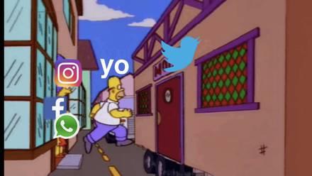 Meme sobre caída de WhatsApp, Facebook e Instagram