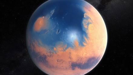 Marte con agua