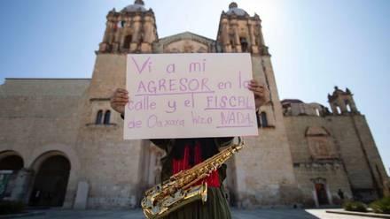 Protesta de María Elena Ríos
