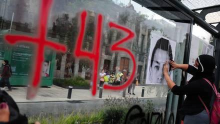 Marcha a 7 años de Ayotzinapa