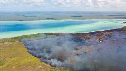 Incendio en Quintana Roo, México.