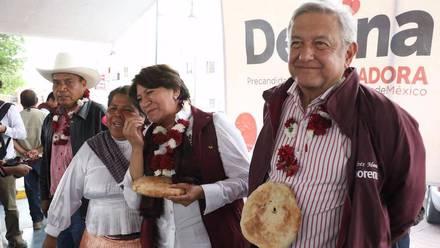 AMLO y Delfina Gómez
