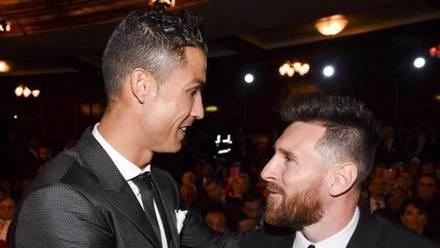 Cristiano y Messi en la gala del The Best.