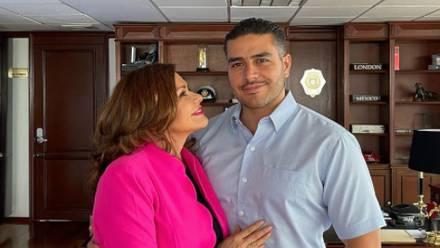 Omar García Harfuch y María Sorté