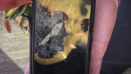 Explosión de un iPhone