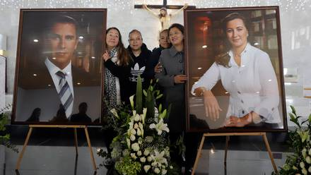 Homenaje luctuoso de Martha Erika Alonso y Rafael Moreno Valle.