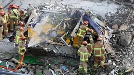 Colapso de edificio en Corea del Sur