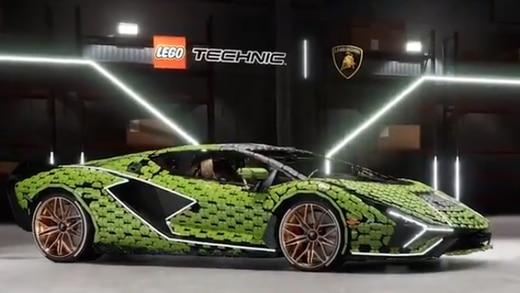 LEGO hace una replica de un Lamborghini en tamaño real