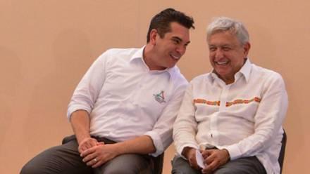Alejandro Moreno y Andrés Manuel López Obrador