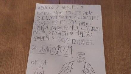 Carta de Keita a sus abuelos