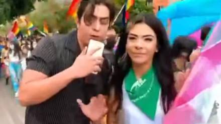 Youtuber Sebastián Santoyo se burla de activista trans