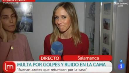 Mujer durante entrevista