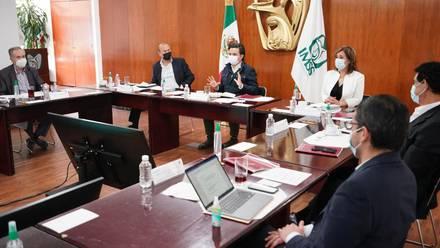 Zoé Robledo Aburto, en reunión del IMSS