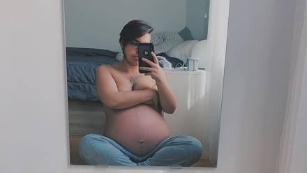 Ruben Castro, joven trans a punto de tener a su bebé