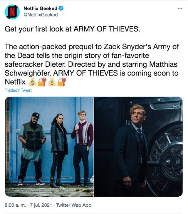 Army of Thieves Netflix
