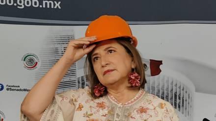 Xóchitl Gálvez se manifiesta ante represiones violentas en refinería Dos Bocas