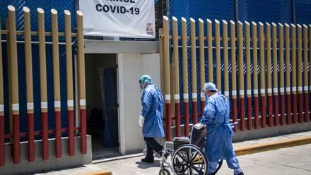 Hospital de atención de Covid-19.