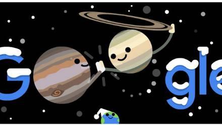 Doodle Júpiter y Saturno