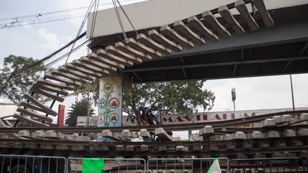 Derrumbe en el Metro de CDMX