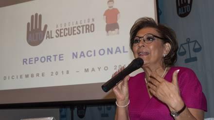 La activista Isabel Miranda de Wallace, presidenta de Alto al Secuestro.