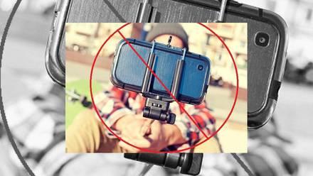 Palacio de Versalles prohibe el uso del selfie stick.
