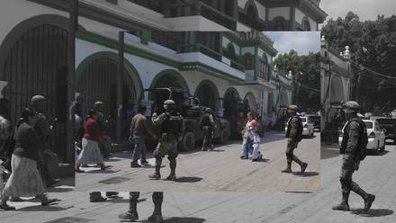 El Ejército está asentado en el municipio de Chilapa, Guerrero debido a la violencia en la región