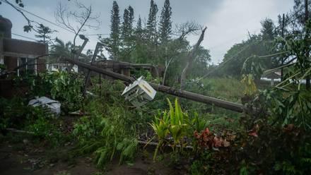 Destrozos en Veracruz por Grace