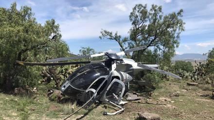 Helicóptero de la Fuerza Aérea Mexicana tiene aterrizaje de emergencia en Edomex