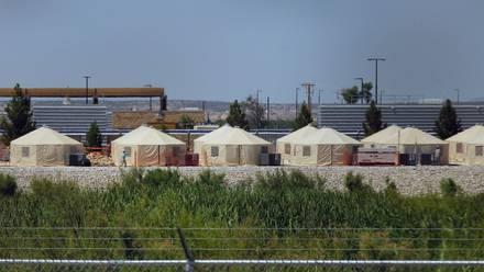 Centro de detención para menores inmigrantes en Tornillo, Texas.