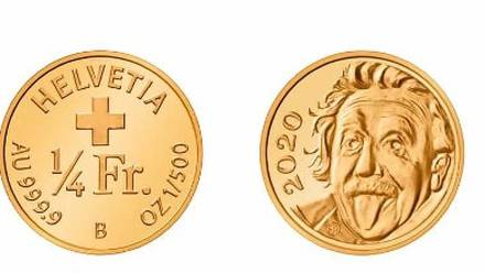 Moneda conmemorativa Albert Einstein