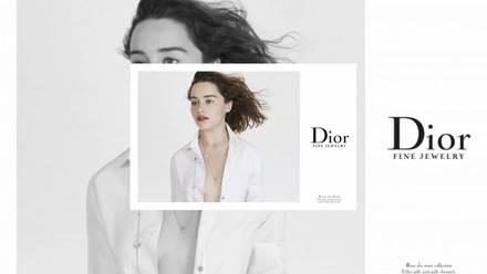 La actriz de Game of Thrones es el nuevo rostro de lacolección de joyería Dior Rose des Vents de la firma francesa.