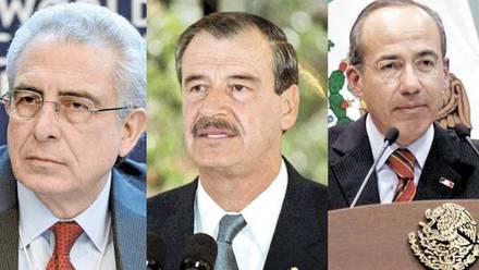 Ernesto Zedillo, Vicente Fox y Felipe Calderón