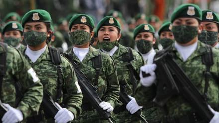 Ensayos del Desfile Militar