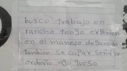 Angel Medina escribió su currículum a mano, obtuvo 30 ofertas de trabajo.
