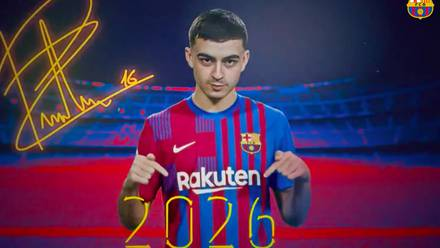 Pedri renovó con el FC Barcelona hasta 2026