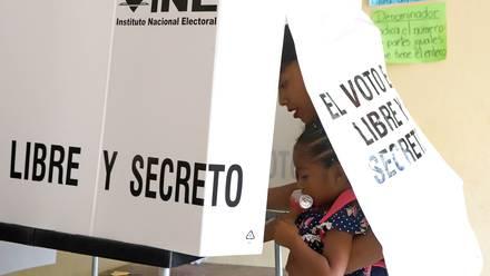 Casilla para votar en Puebla