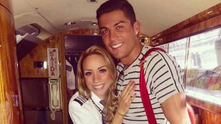 Alejandra Manríquez y Cristiano Ronaldo