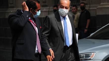 Carlos Slim en Palacio Nacional