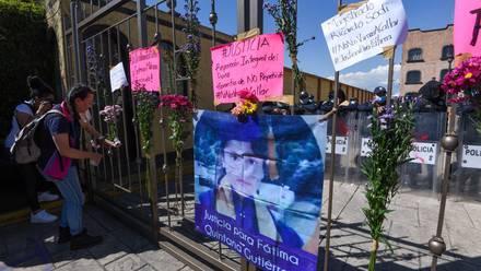 Protesta por el feminicidio de Fátima Quintana