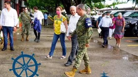 Beatriz Gutiérrez Muller acompaña a AMLO en su gira por Puerto Vallarta