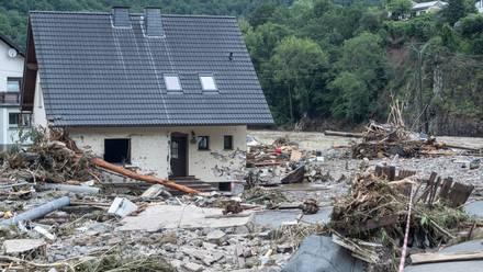 Afectaciones por lluvias en Alemania