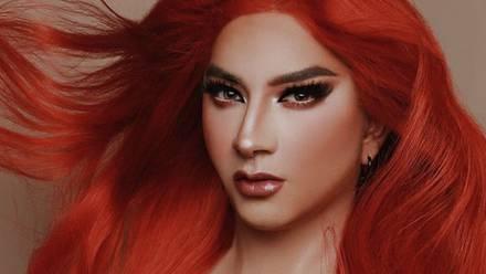 Mario Aguilar como drag queen