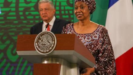 Directora de ONU Mujeres en la conferencia de AMLO