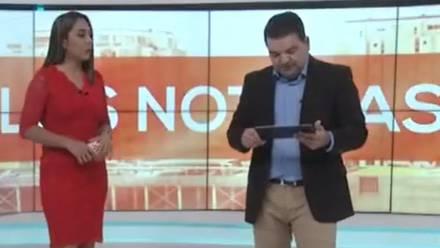 Conductor de noticias es albureado durante transmisión en vivo
