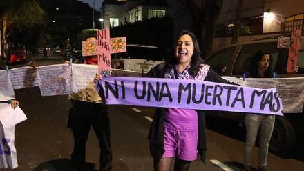 Protesta feminicidios.
