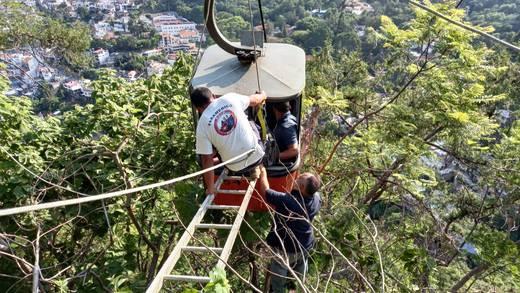 Se rompe cable del teleférico de Taxco