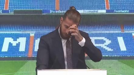 Sergio Ramos en su despedida del Real Madrid